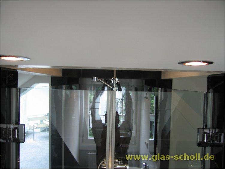 doppelfl glige dusche 2 s ulen und 2 festen seitenteilen detail fertig von oben. Black Bedroom Furniture Sets. Home Design Ideas