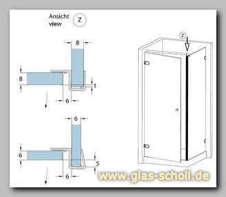 anschlagdichtung 90 69040 2010mm 69041 2500 mm von glas. Black Bedroom Furniture Sets. Home Design Ideas