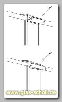 mitteldichtung fuer fluchtende duschtuer anordnung von. Black Bedroom Furniture Sets. Home Design Ideas