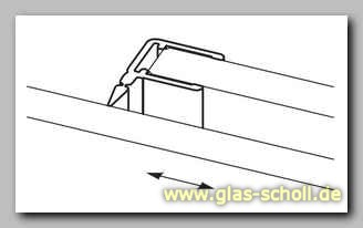 dichtprofil mit lippe f r schiebet ren von glas scholl. Black Bedroom Furniture Sets. Home Design Ideas