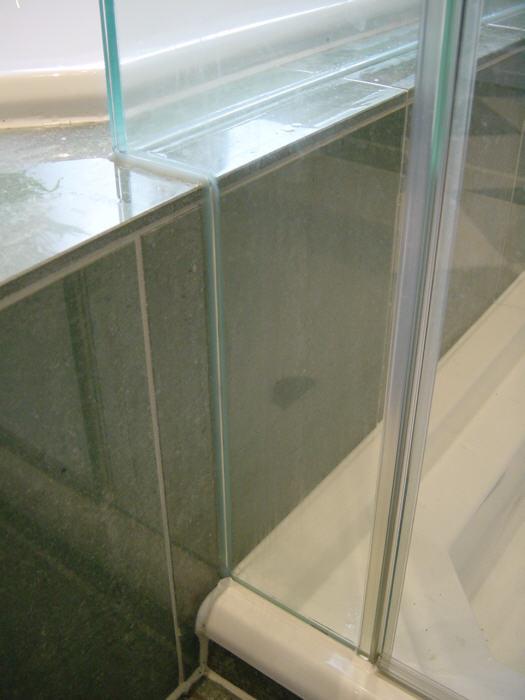 Glas Dusche Rahmenlos : Ganzglasdusche mit Seitenteil auf der Badewanne (ohne Wannenwulst)
