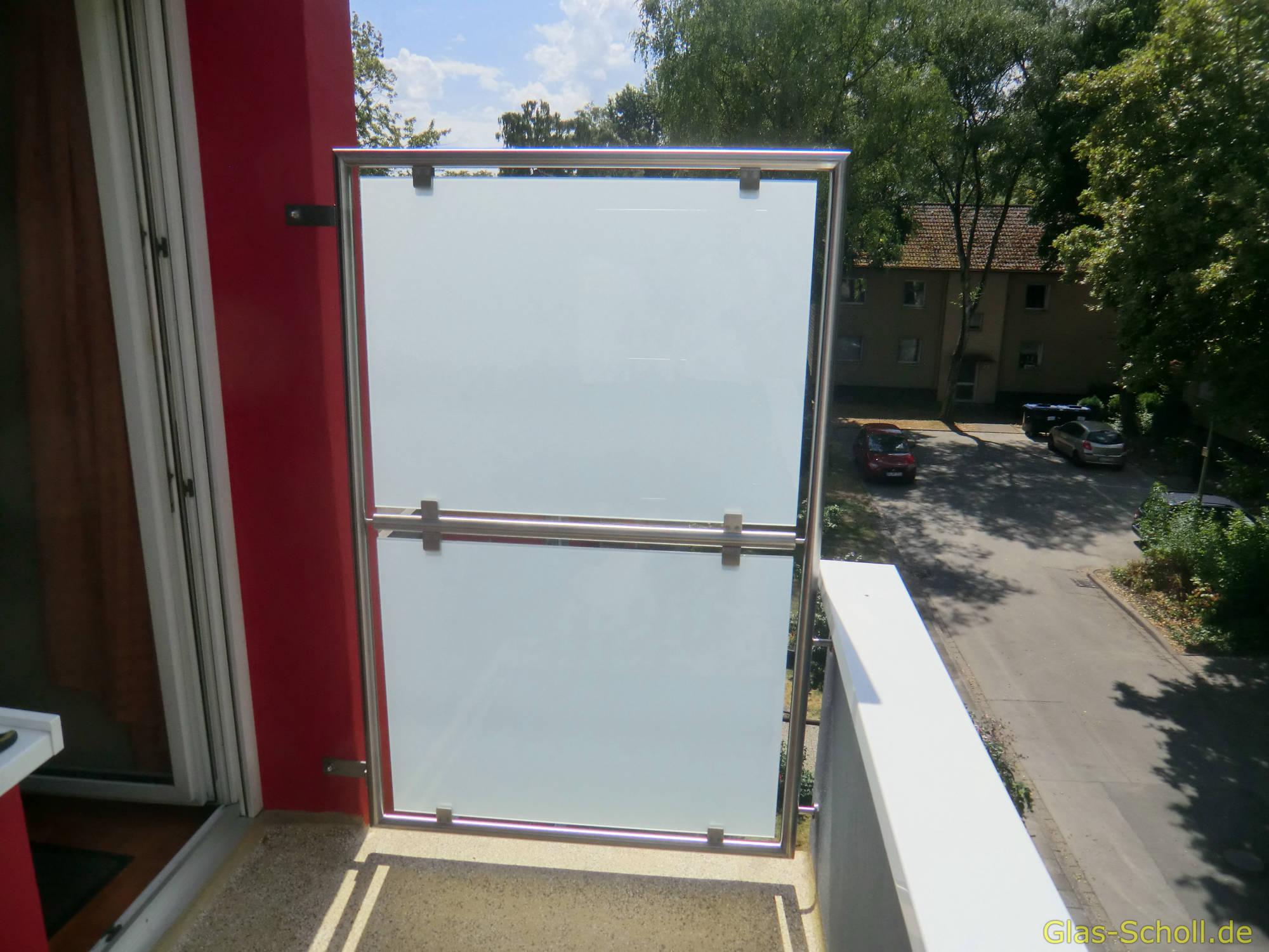 Balkontrennwand Verschonerung Von Glas Scholl