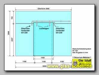 Schiebetüranlage schiebetür anlage als raumteiler mit mittiger türe hiska system