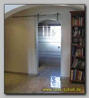 glasschiebet re icetec office mit sandstrahl streifen dekor. Black Bedroom Furniture Sets. Home Design Ideas