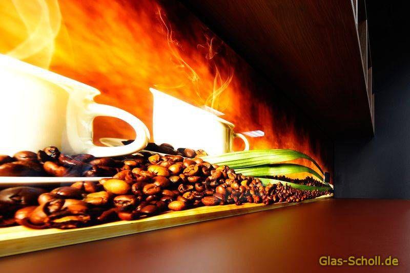 Küchenrückwände aus Glas mit Digitaldruck und LED-Beleuchtung von ...