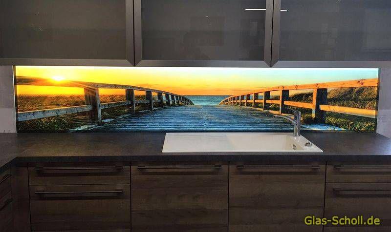 Küchenrückwände aus Glas mit Digitaldruck und LED ...