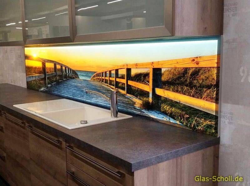 Küchenrückwände aus Glas mit Digitaldruck und LED-Beleuchtung von Glas Scholl Duisburg (Duisburg ...