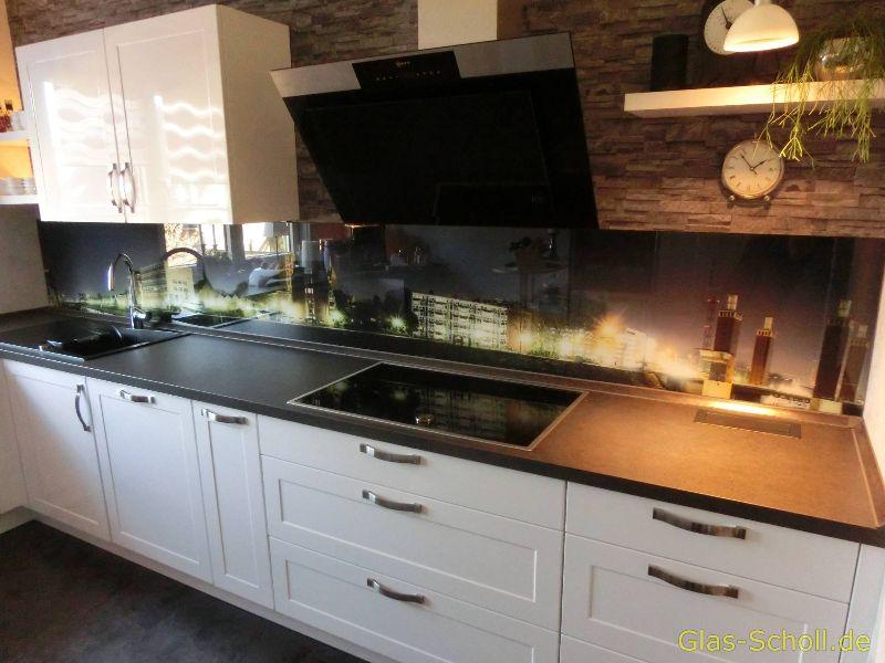 Küchenspritzschutz, Spiegelfliesen, Küchenrückwand von Glas Scholl ...
